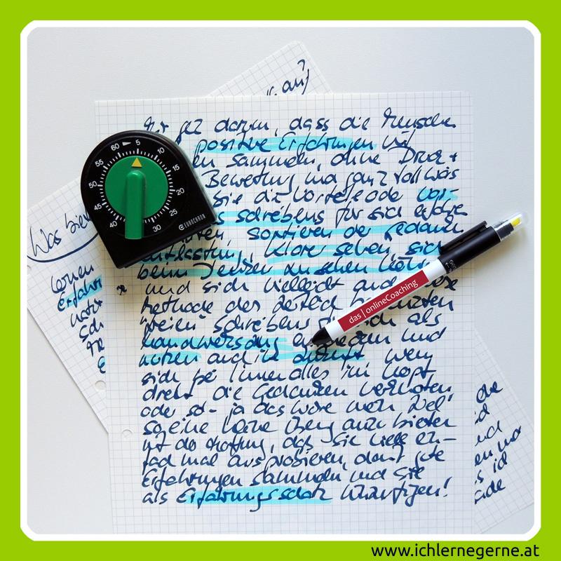 Kopf-Frei-Schreiben entlastet
