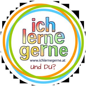Logo-Button: Ich lerne gerne! Und DU?