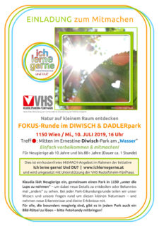 Einladung zur Naturerkundung im Juli 2019